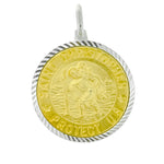 Two Tone St. Christopher Medal