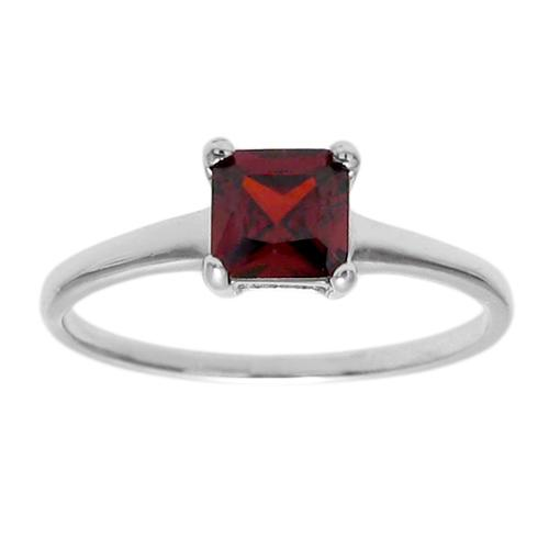 6mm Garnet Birthstone Ring - January