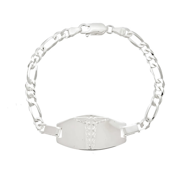 5mm Figaro Medical Alert ID Bracelet