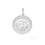 Round St. Christopher Medal Pendant