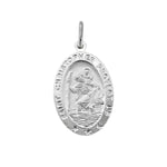 Oval St. Christopher Medal Pendant