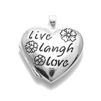 Live Laugh Love Heart Locket