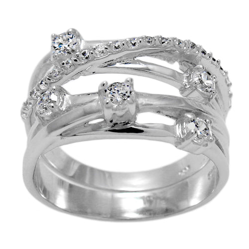 Two Piece Modern CZ Band & Set
