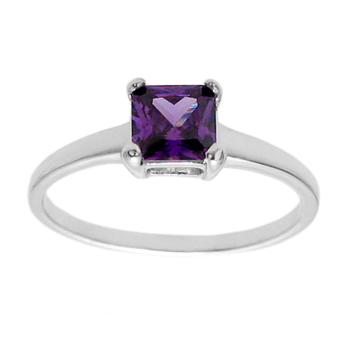Baby Birthstone Ring - February