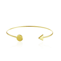 Disc and Arrow Cuff Bangle Bracelet