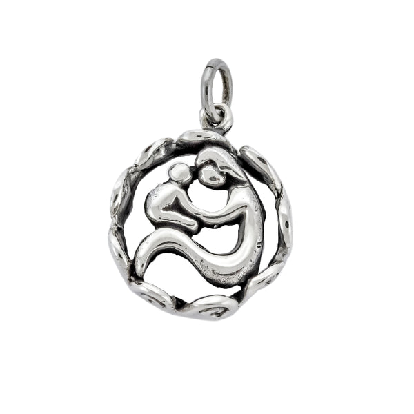 Round Mother and Child Pendant