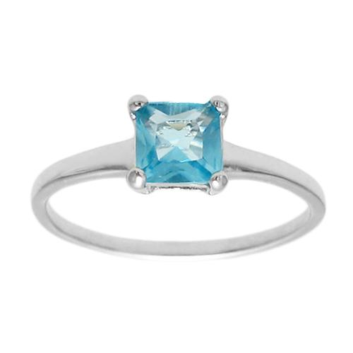 6mm Aquamarine Birthstone Ring - March