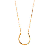 Horseshoe with CZ Necklace