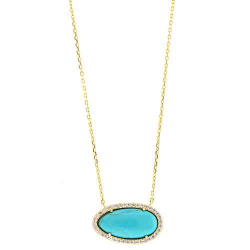CZ Turquoise Necklace