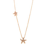 Rose Gold CZ Starfish Necklace