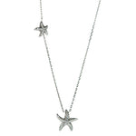 Silver CZ Starfish Necklace