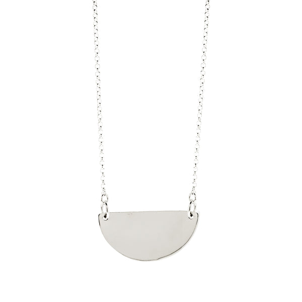 Half Moon Monogram Necklace