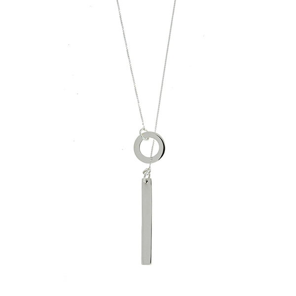 Long Bar Lariat Necklace