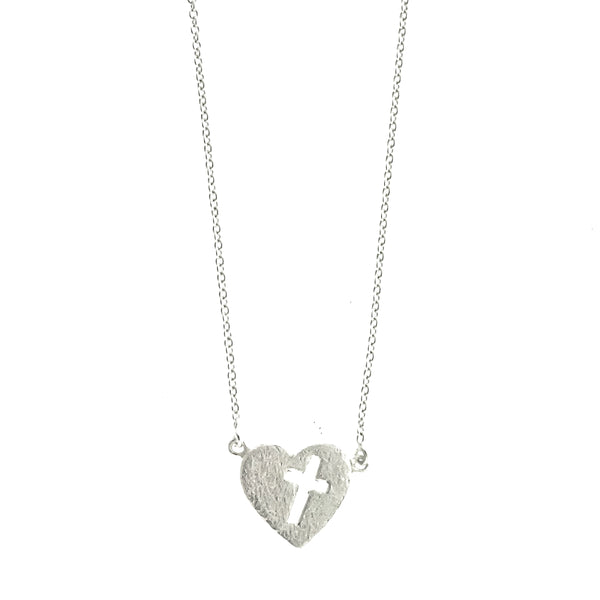 Heart with Cross Necklace