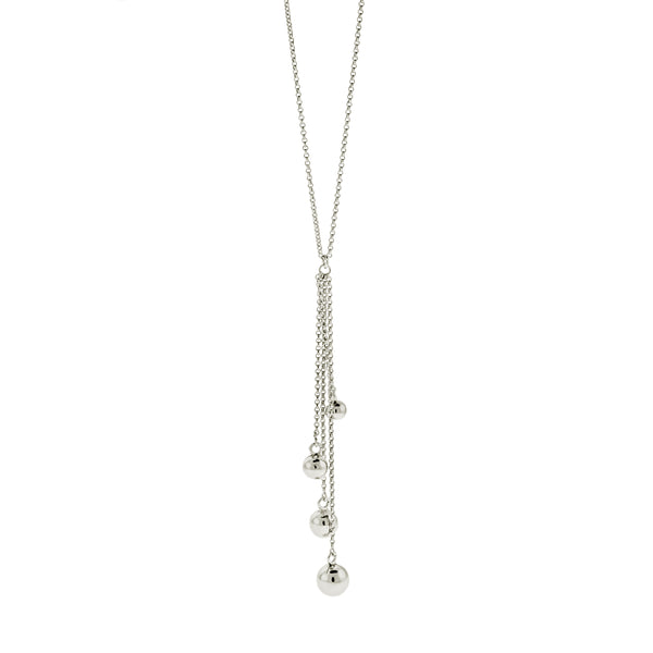 Multi Ball Lariat Necklace