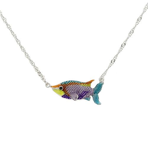 Multicolor Fish Necklace
