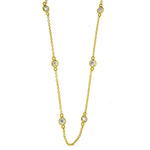 Gold Vermeil CZ Diamonds by the Yard Link Chain
