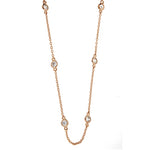 Rose Gold CZ Diamond by the Yard Link Chain