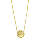 Gold Vermeil Round CZ Necklace
