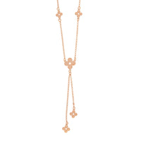 Rose Gold Clover Lariat Necklace