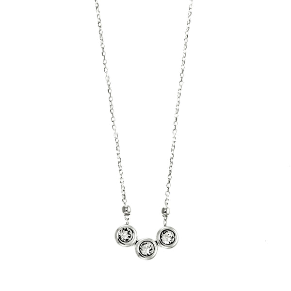 Three CZ Stone Necklace