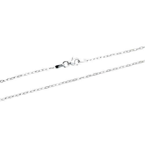 Rhodium Oval Drop 040 Chain
