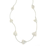 Irregular Pearl and Bar Necklace