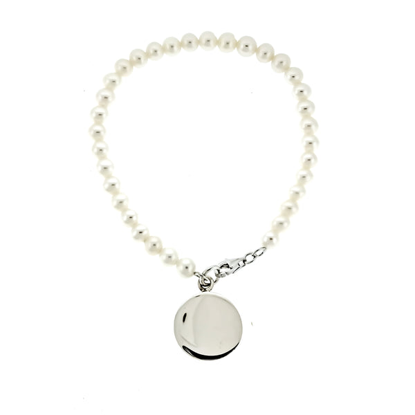 5mm Pearl Monogram Bracelet