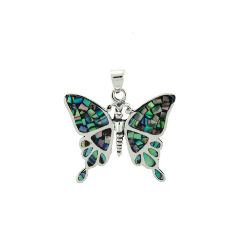 Abalone Butterfly Pendant