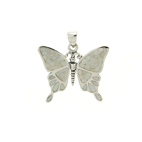 White Shell Butterfly Pendant