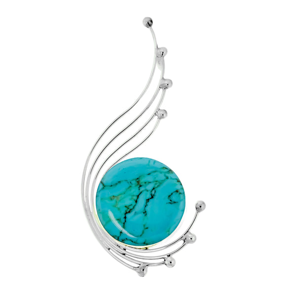 Wire Ball Stone Slide Pendant