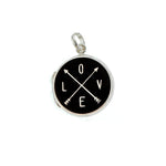 Black Love Arrow Locket