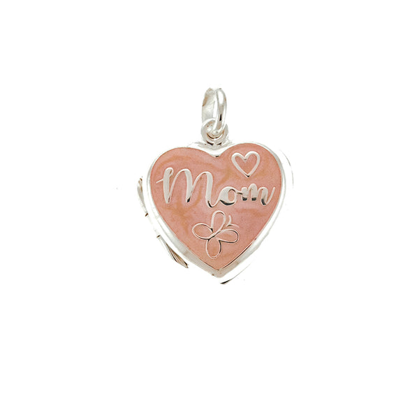 Pink Heart Mom Locket