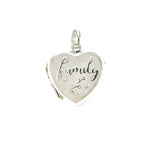 White Heart Family Locket