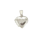 Design Etched Heart Locket