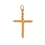 Rose Gold DC Bead Cross Pendant