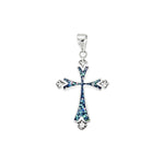 Opal and CZ Cross Pendant