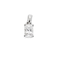 Mini Rectangle CZ Pendant
