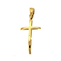 Gold Vermeil Curved Cross Pendant