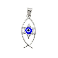 Fish and Star with Third Eye/Evil Eye Pendant