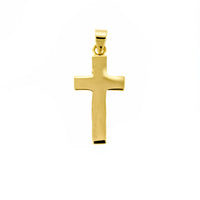 Plain Gold Vermeil Cross Pendant
