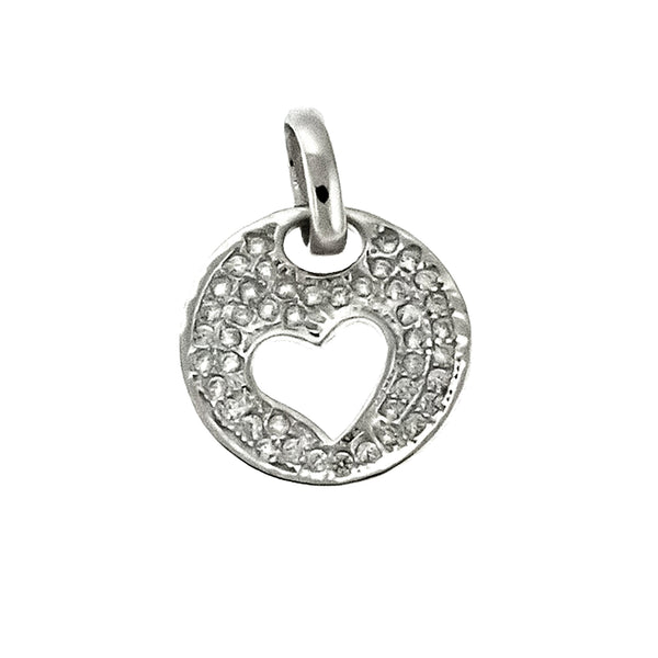 CZ Cut Out Heart Pendant
