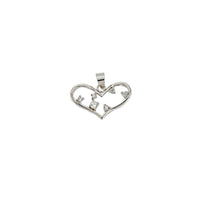 Wide Open CZ Heart Pendant