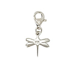 Dragonfly Charm with Lobster Lock