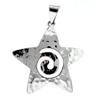 Hammered Swirl Star Pendant