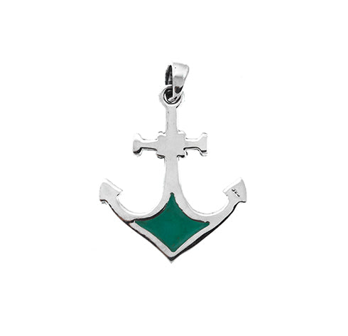 Turquoise Anchor Pendant
