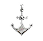White Shell Anchor Pendant