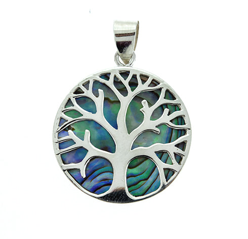 Abalone Tree of Life Pendant