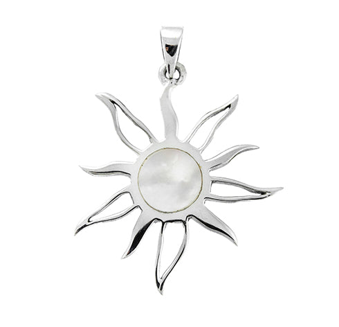 Small Mother of Pearl Sun Pendant