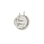 I Love You Moon Pendant